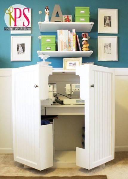 Placard maison pour machine à coudre à disposer dans votre atelier de couture