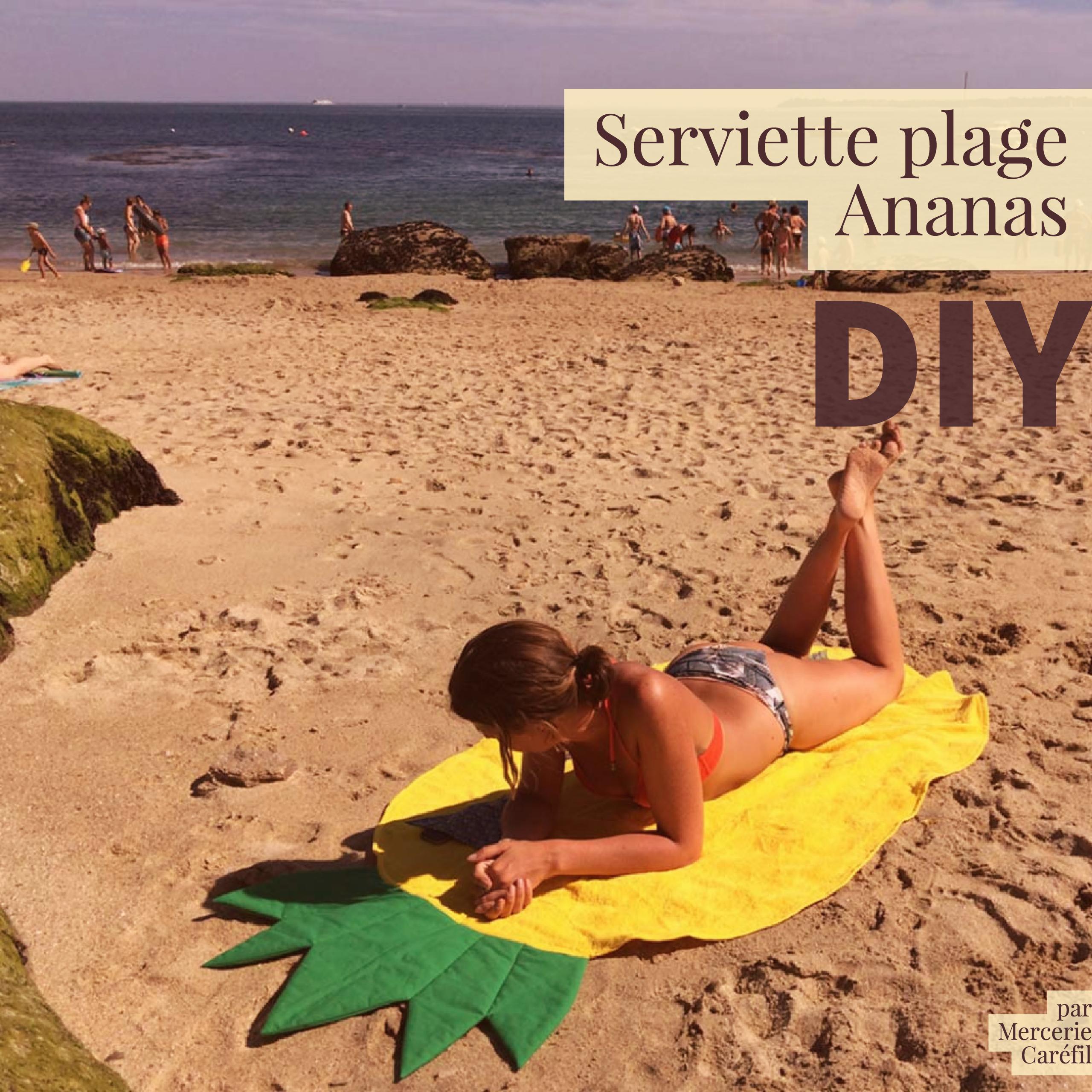 La serviette de plage ananas