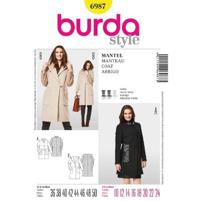 Patron Burda pour confectionne le manteau Noir de Mademoiselle M