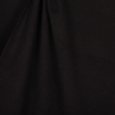 Tissu drap de manteau uni noir vendu par Caréfil pour la confection du manteau