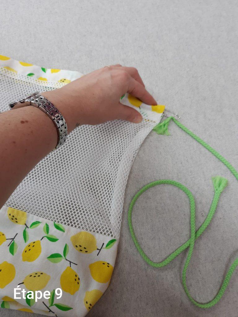 Mise en place du cordon sac à vrac