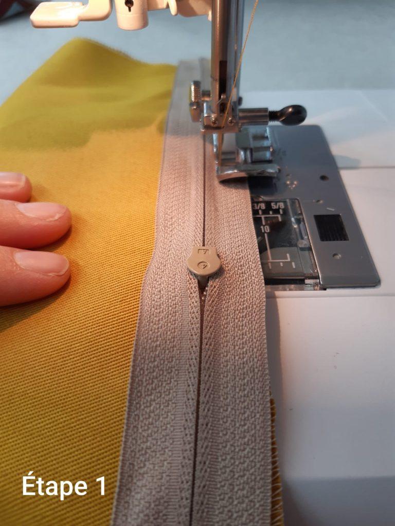 Tuto : Coussin déhoussable - couture fermeture étape 1
