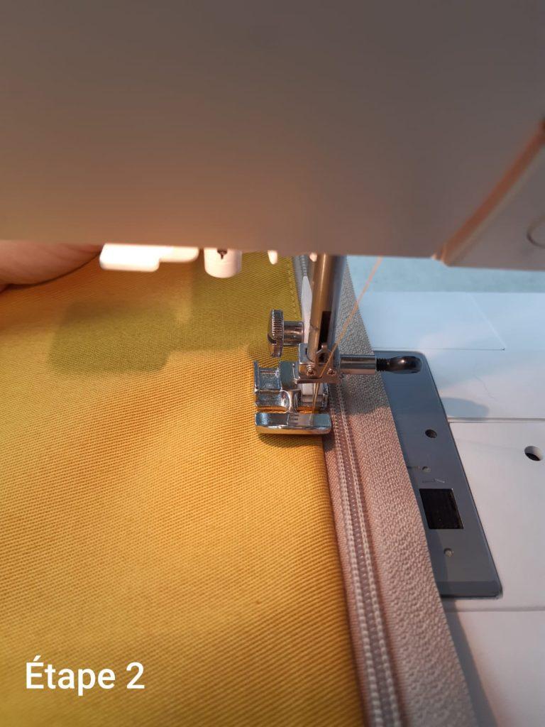 Tuto : Coussin déhoussable - couture fermeture étape 2
