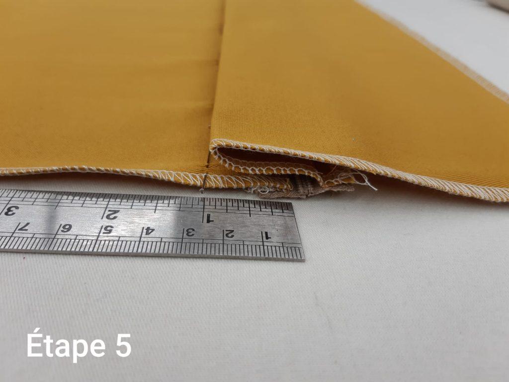Tuto : Coussin déhoussable - couture fermeture étape 5 2/2