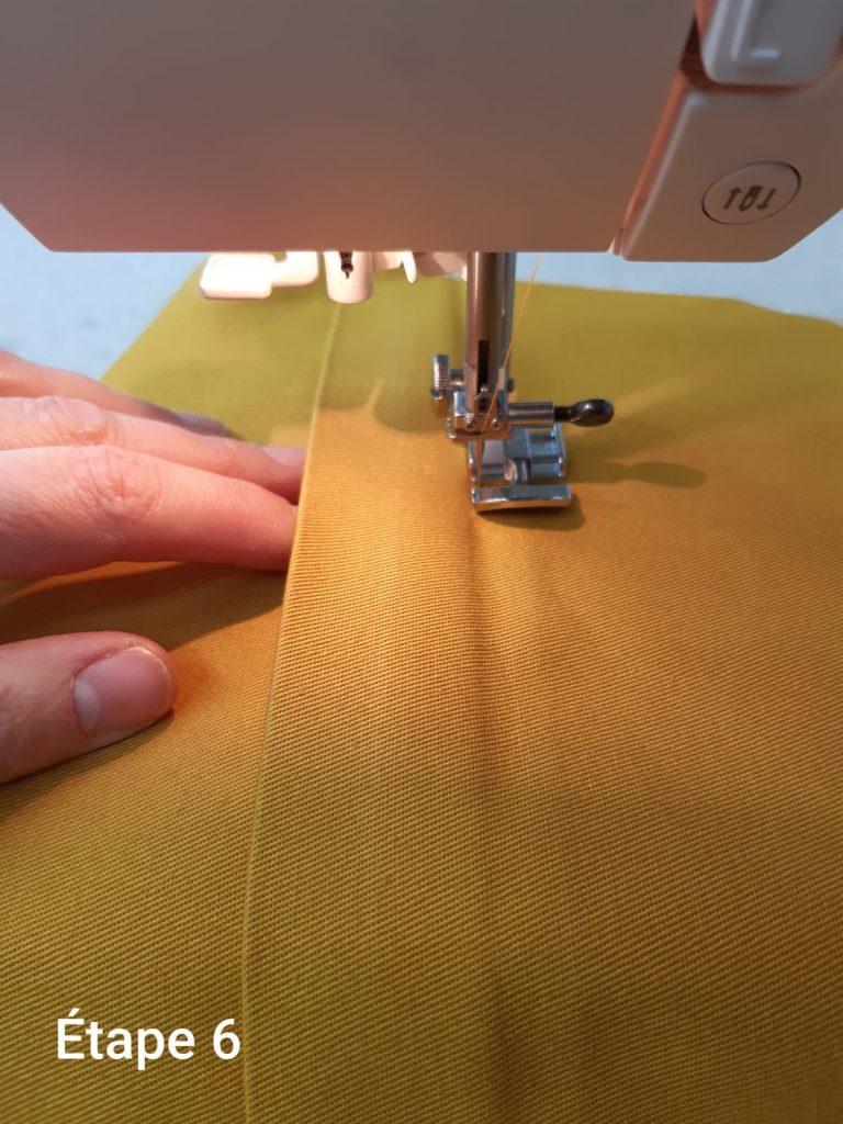 Tuto : Coussin déhoussable - couture fermeture étape 6