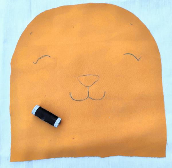 Tuto pouf lion : confection 1