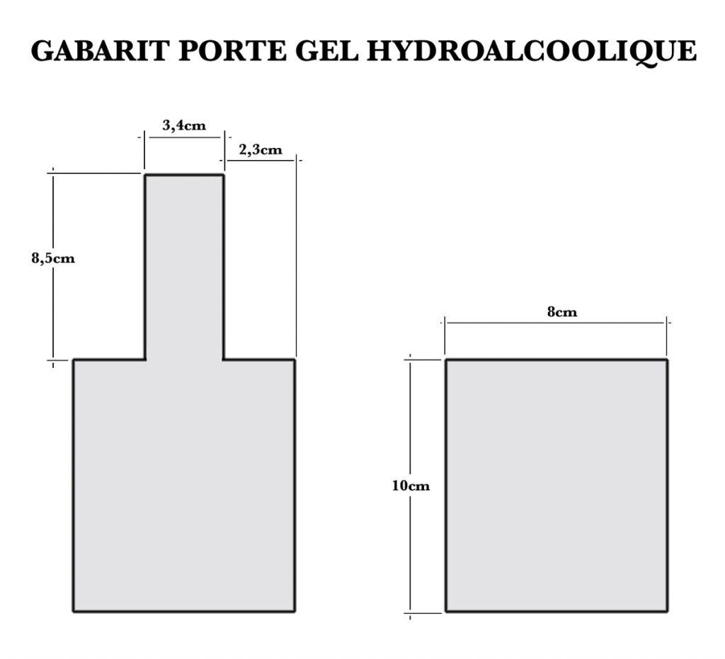 Tuto Porte gel Hydroalcoolique : Gabarit