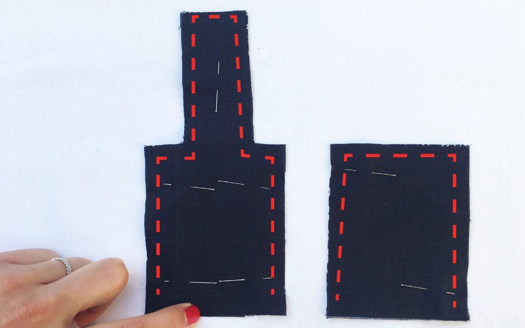 Tuto Porte gel Hydroalcoolique :  couture pièces