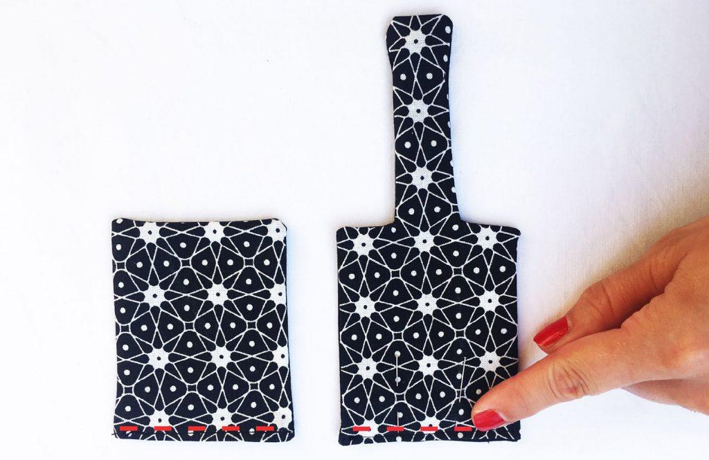 Tuto Porte gel Hydroalcoolique :  couture pièces 2